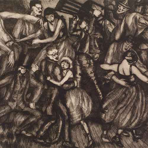 Print of dancing people from 1919