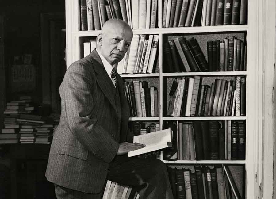 Carter G. Woodson in his library. Photo courtesy of the Association for the Study of African American Life and History.
