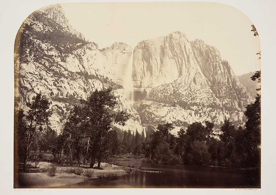 Carleton Watkins, Yosemite Falls (Lower View) 2630 ft., 1861. The Huntington Library, Art Collections, and Botanical Gardens.