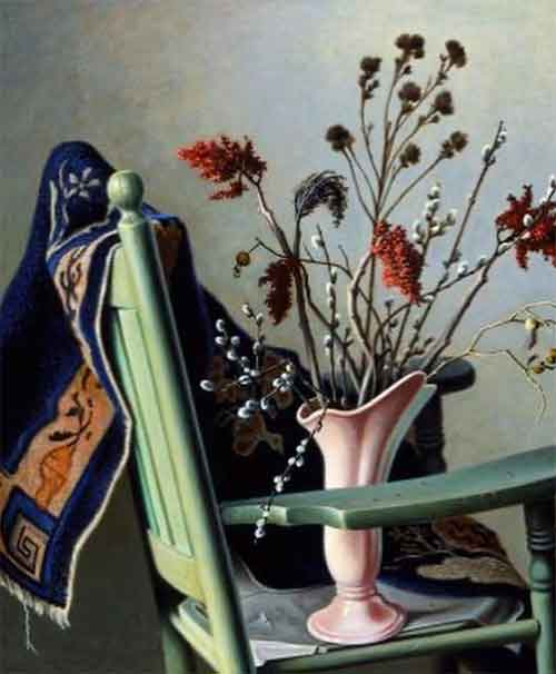 """Still Life with Green Chair"" (1950) by Roger Medearis"