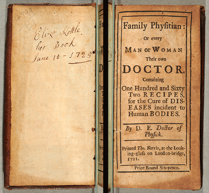 Historical medical book