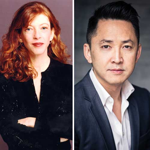 Authors Susan Orlean on the left and Viet Thanh Nguyen on the right