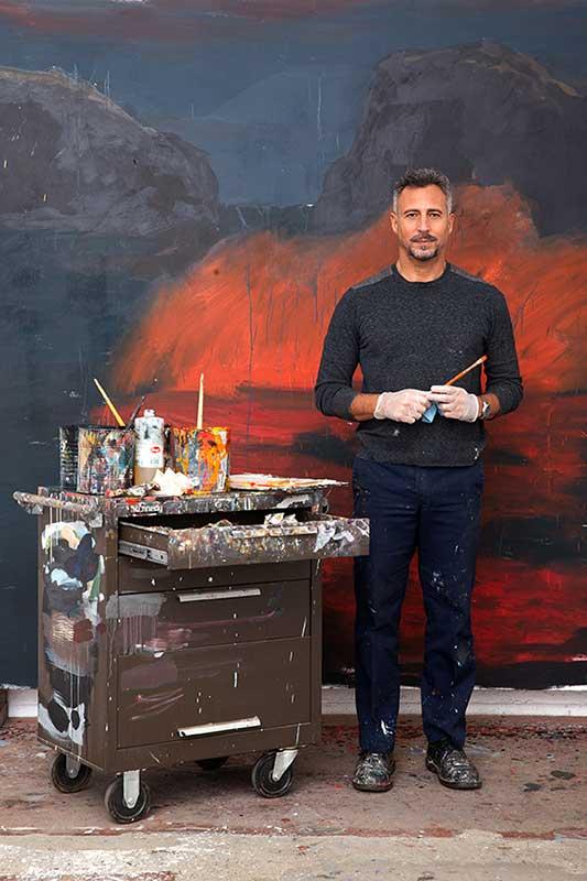 Photo of Enrique Martínez Celaya in his studio, Culver City, Calif. Photo courtesy of the artist.