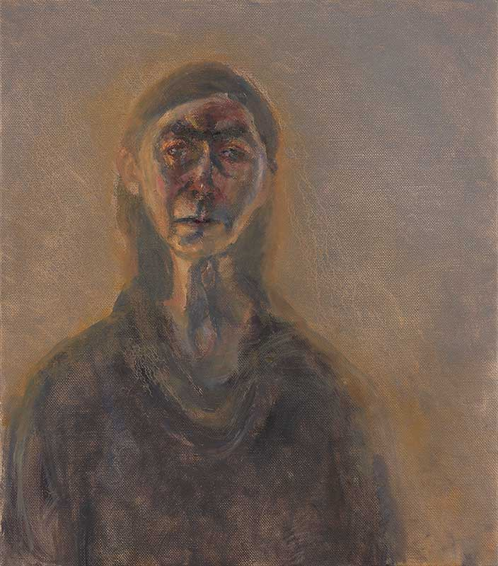 Celia Paul, Self-Portrait, March, 2017. Oil on canvas, 24 7/8 x 22 3/8 in. © Celia Paul. Courtesy of the artist and Victoria Miro, London / Venice.