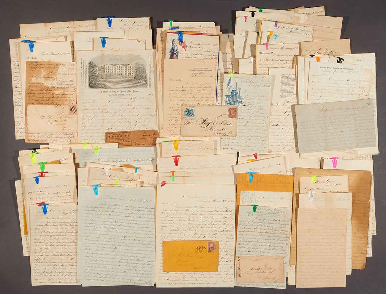 Correspondence of Warren D. Chase, 142 letters, 1862–1868. The Huntington Library, Art Collections, and Botanical Gardens.