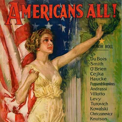 American poster showing patriotism from 1919