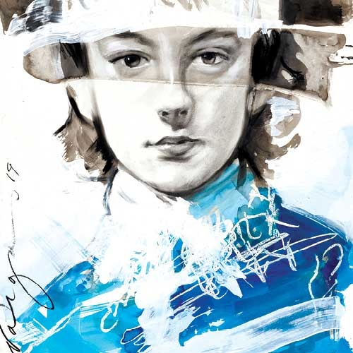 Blue Boy by Robert Vargas, after Thomas Gainsborough's The Blue Boy