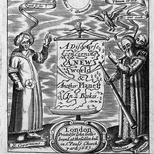 Engraving of early modern astronomers