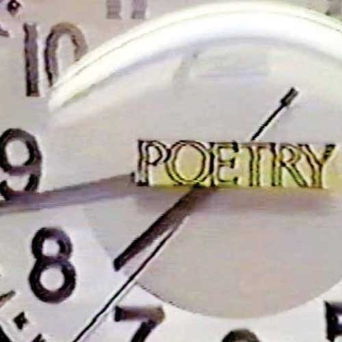 """""""Poetry"""" on a clock from Fear of Poetry"""