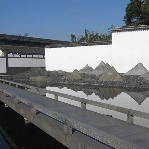 Photograph of Chinese rock garden