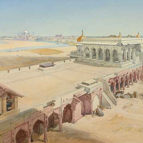 Watercolor of India