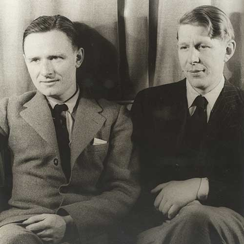 Photograph of W. H. Auden and Christopher Isherwood
