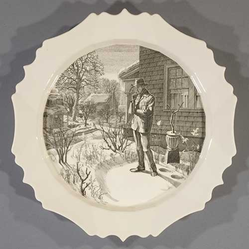 Engraved plate by Andrew Raftery