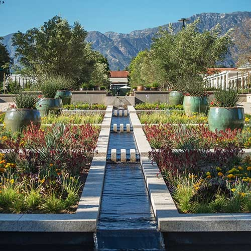 gardens with view of mountains