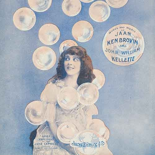 Sheet music cover from 1919 with girl and bubbles