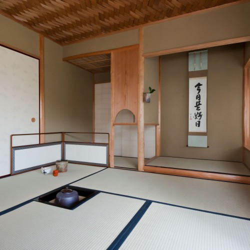 Interior of a Japanese teahouse