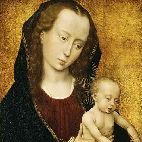 Northern Renaissance painting of Virgin and Child