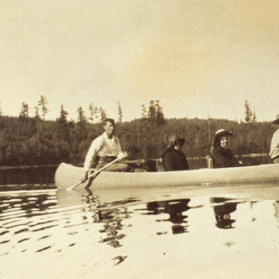In the Woods With a Canoe