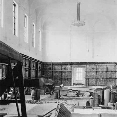 Early interior of the Huntington Library Building in 1919-1920