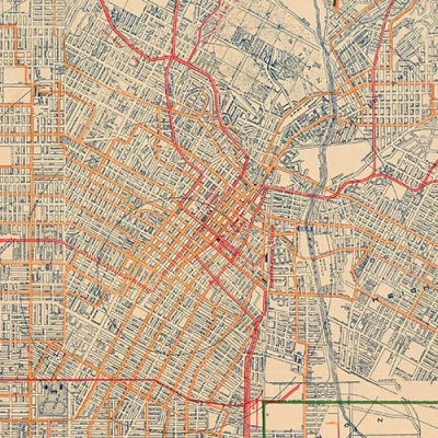 Old map of Los Angeles