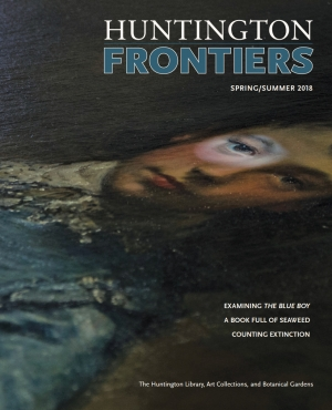 Cover image of issue of Huntington Frontiers.
