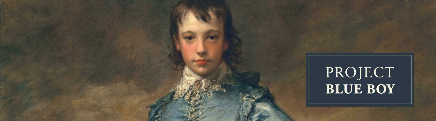 Cropped image of The Blue Boy painting