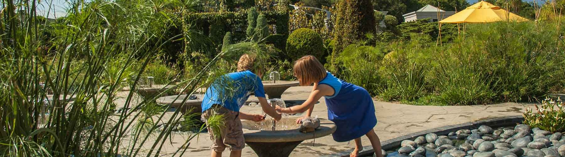 Kids playing in the Childrens Garden