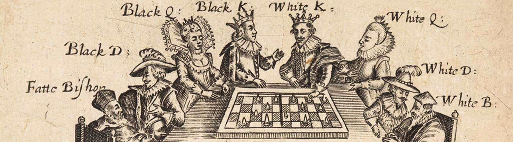 1625 illustration of people playing chess