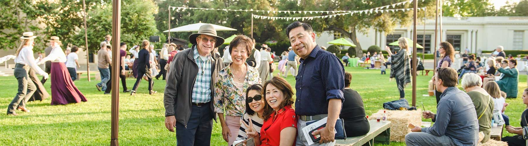 members at a garden event