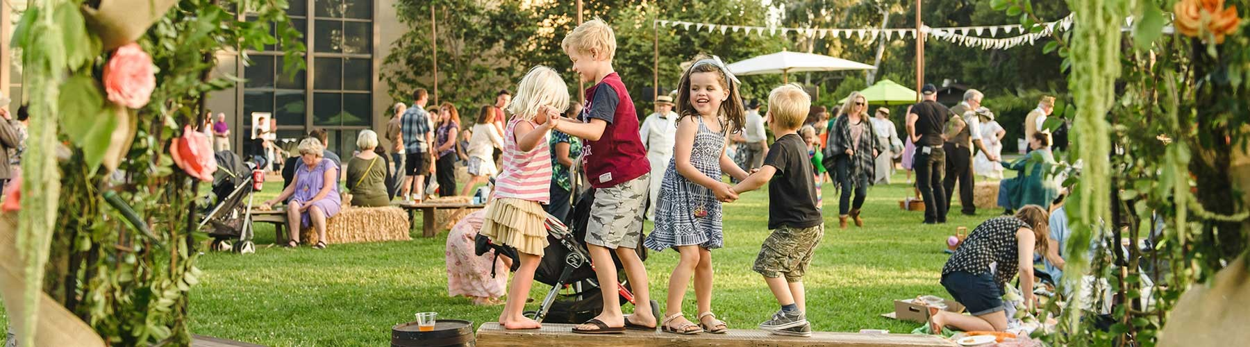 children playing at Member event