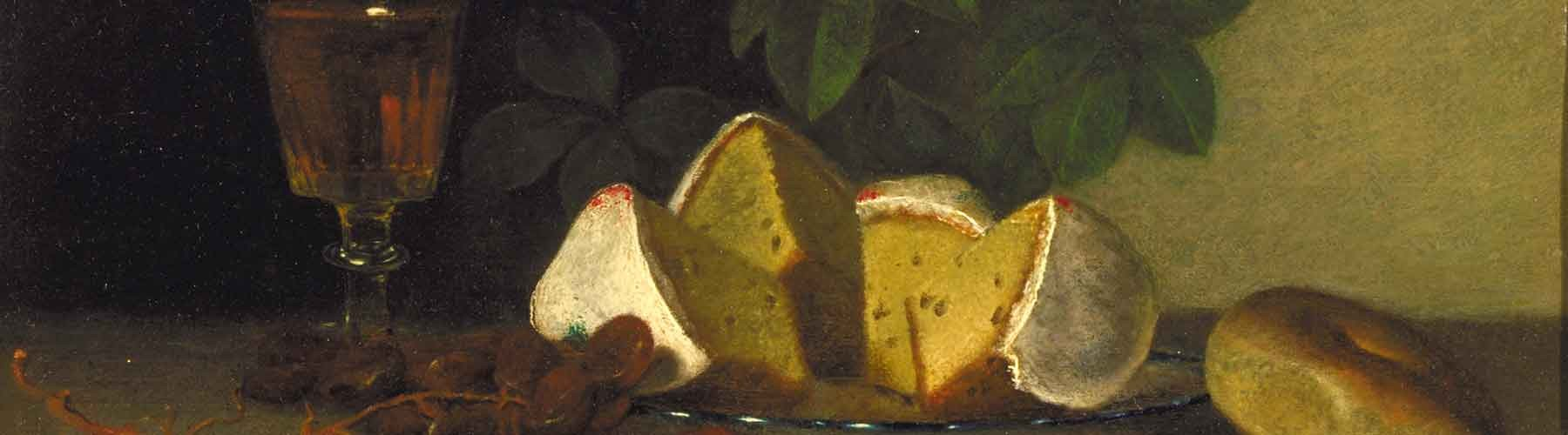Still Life with Wine, Cake, and Nuts by Raphaelle Peale