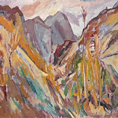 David Bomberg (1890-1957), The Slopes of Navao, Picos de Europa, 1935. Oil on canvas, 33 11/16 x 41 1/8 in. The Huntington Library, Art Collections, and Botanical Gardens.