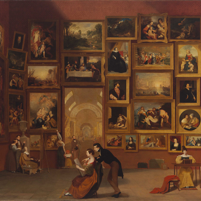Samuel F. B. Morse (1791–1872), Gallery of the Louvre (1831–33), oil on canvas, 73 1/2 x 108 in. Terra Foundation for American Art, Chicago.