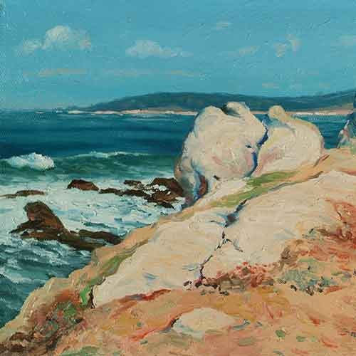 Painting of Monterey coast by Guy Rose