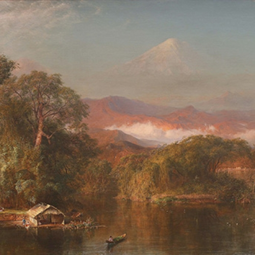 A painting of Chimborazo
