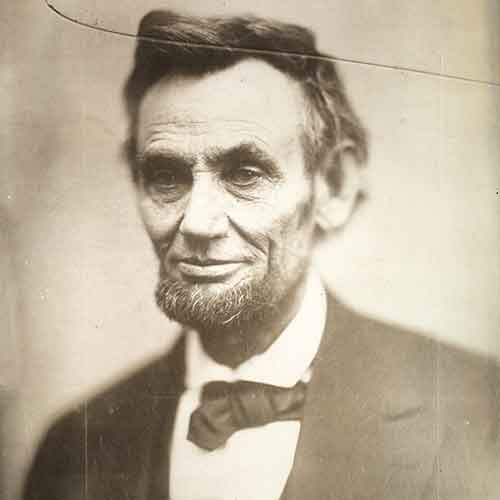 Last photograph of Abraham Lincoln