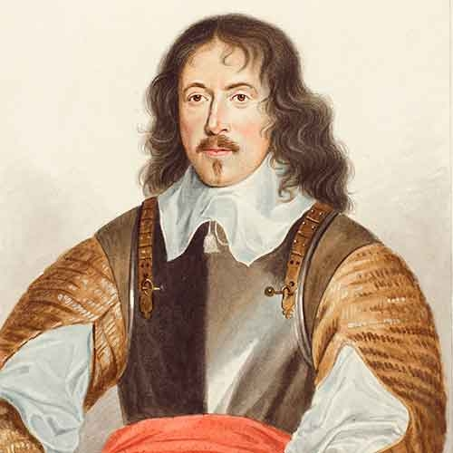 Man in 17th century dress with mustache