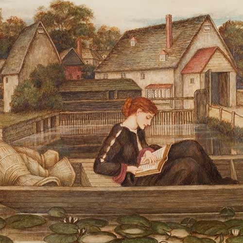 John Roddam Spencer Stanhope, The Millpond, n.d. Watercolor and bodycolor. Huntington Library, Art Collections, and Botanical Gardens.