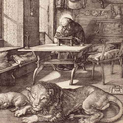 Engraving of St. Jerome