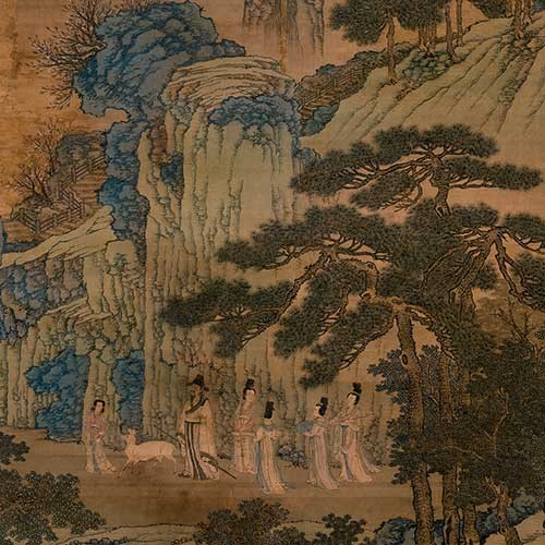 Detail of Ming dynasty hanging scroll