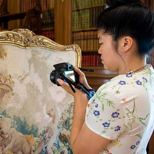 Artist Soyoung Shin photographs 18th-century tapestry
