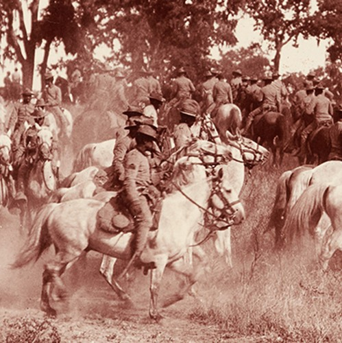 "Unknown photographer. 9th Cavalry (""Buffalo Soldiers""), 1903. photCL 43. Purchased from Holmes Book Company, 1947."