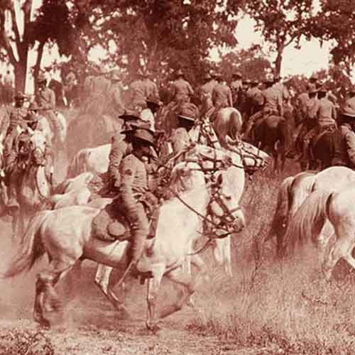 b/w photo 9th cavalry buffalo soldiers