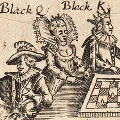 Detail of A game at chaess as it was acted nine days to gether at the Globe on the banks side from the 17th century