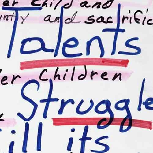 Detail of Parable of the Talents: novel: notes by Octavia Butler