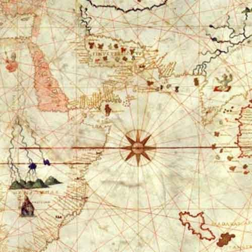Detail of 16th century map