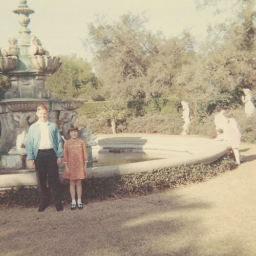 Todd Rugee and his sister at The Huntington