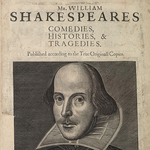 William Shakespeare's First Folio title page