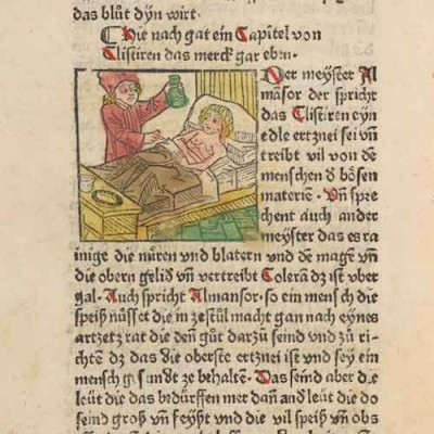 Detail of a rare book before 1501