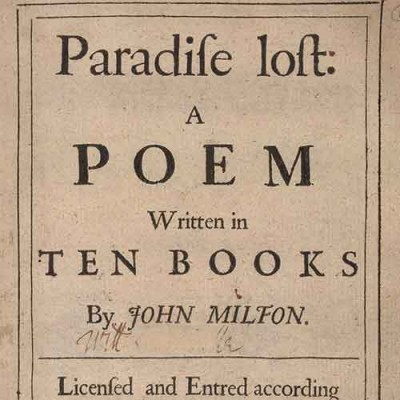 Title page of Paradise Lost